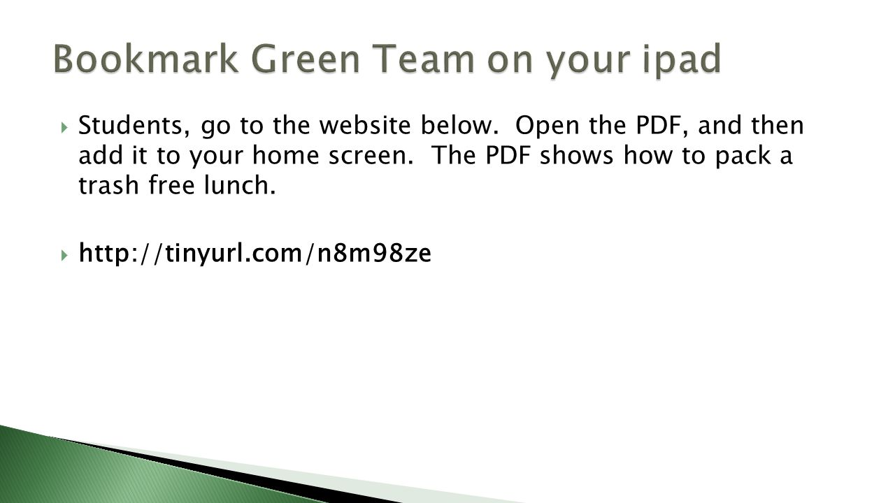  Students, go to the website below. Open the PDF, and then add it to your home screen.