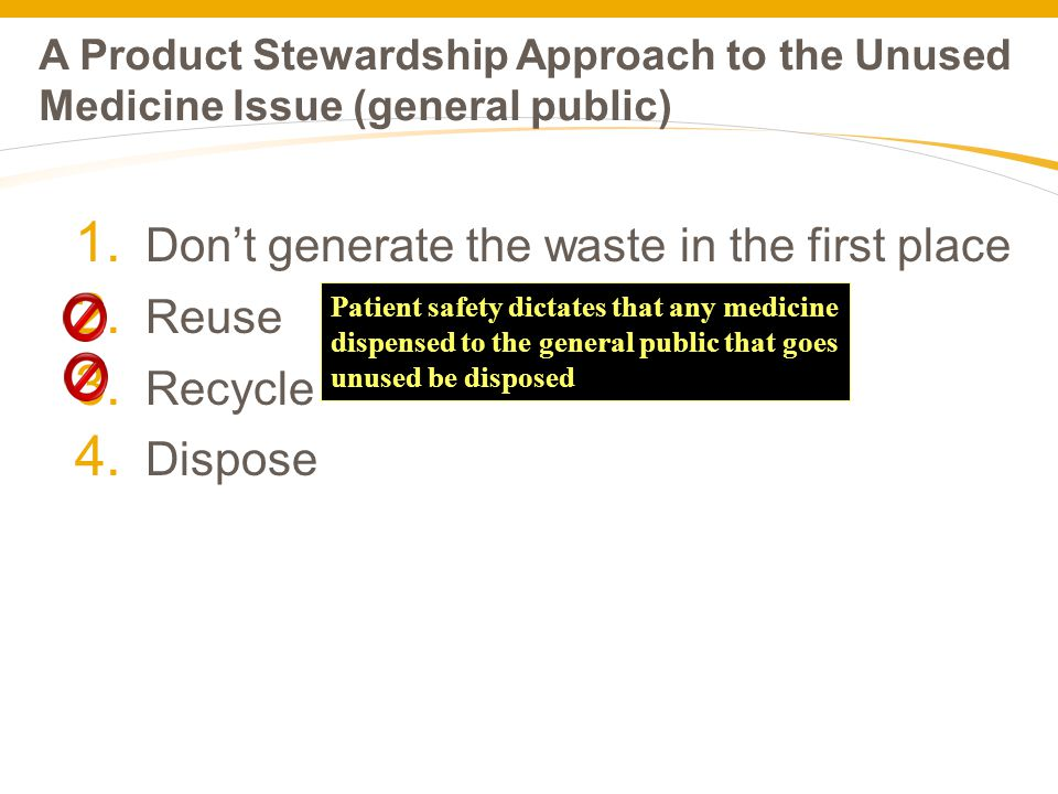 A Product Stewardship Approach to the Unused Medicine Issue (general public) 1.