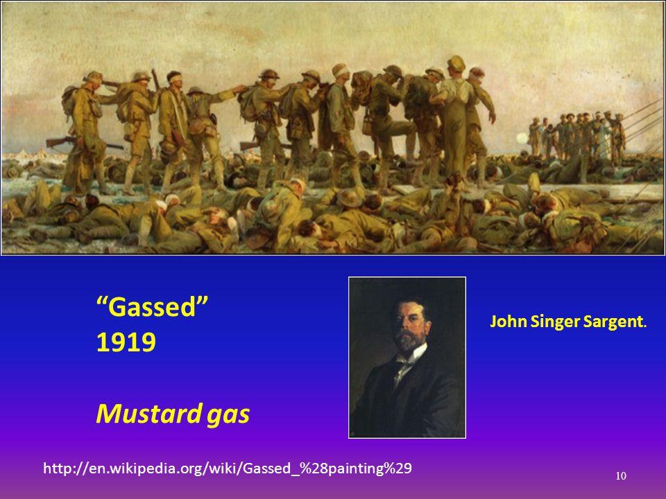 http://en.wikipedia.org/wiki/Gassed_%28painting%29 John Singer Sargent.