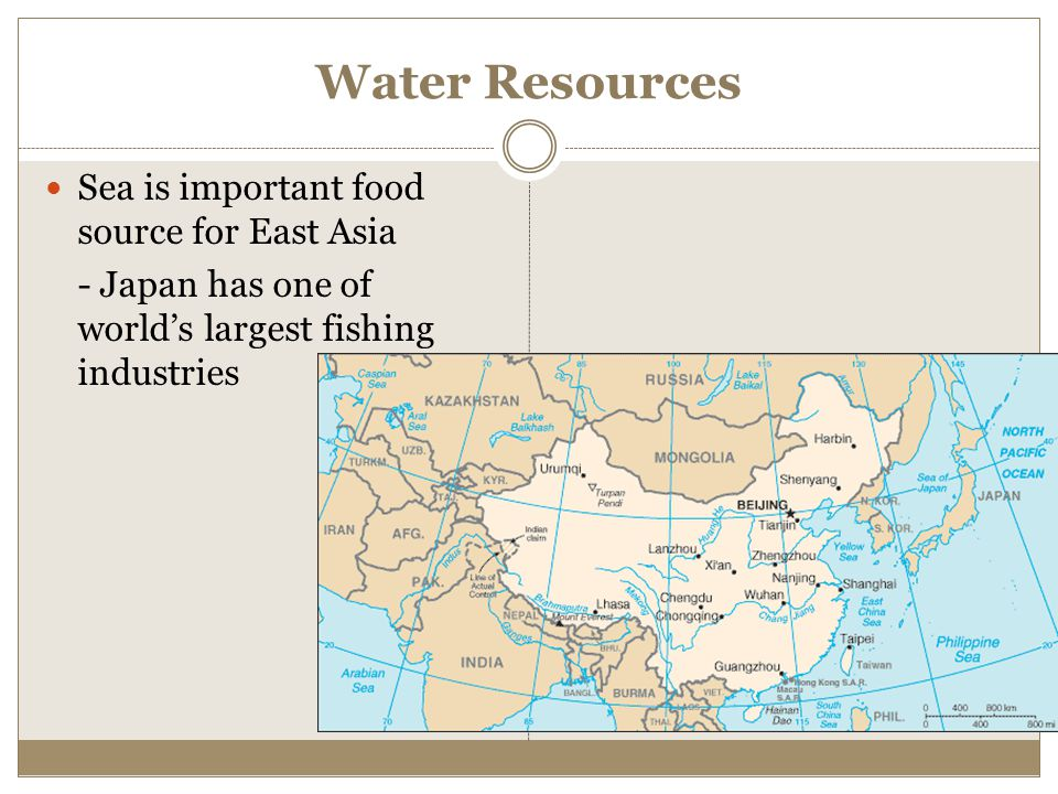 Water Resources Sea is important food source for East Asia - Japan has one of world's largest fishing industries