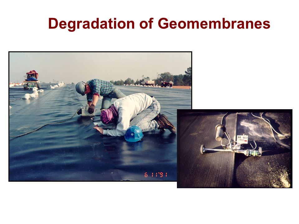 Degradation of Geomembranes