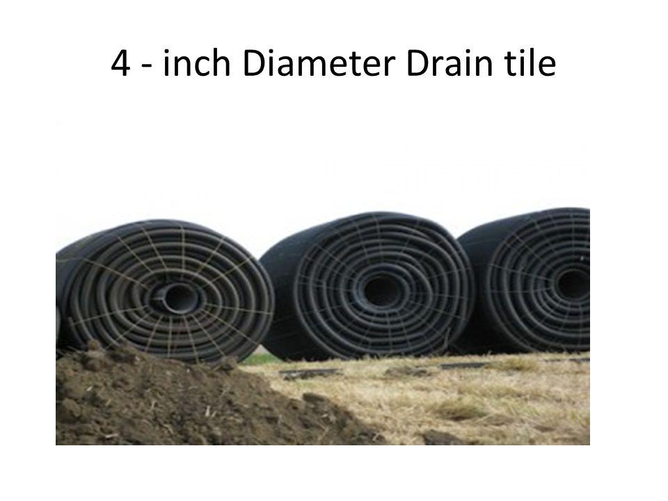4 - inch Diameter Drain tile