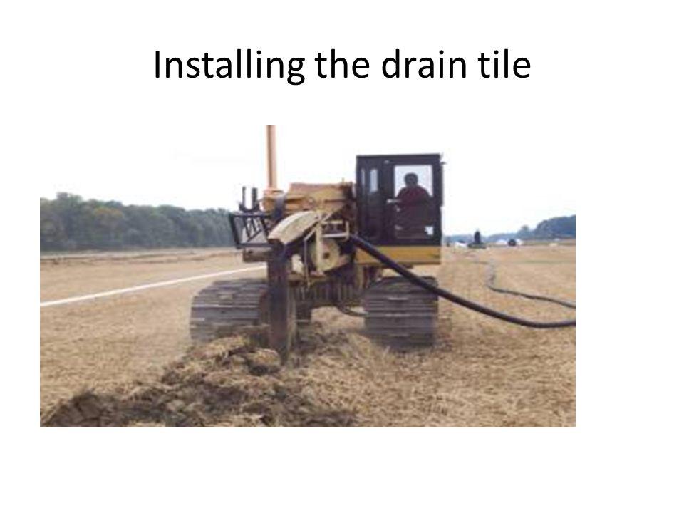 Installing the drain tile