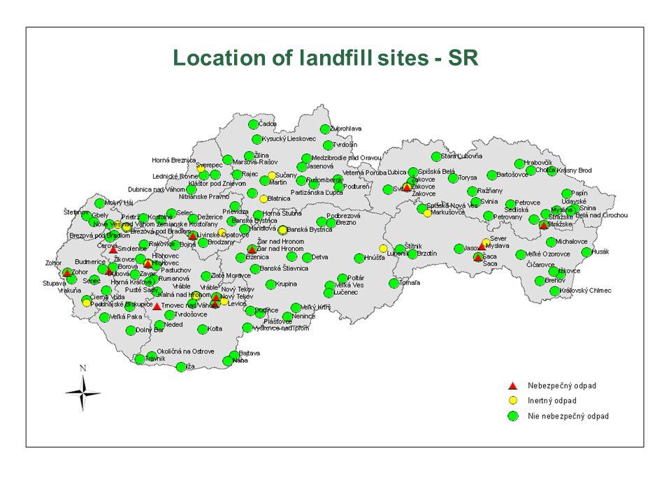 Location of landfill sites - SR