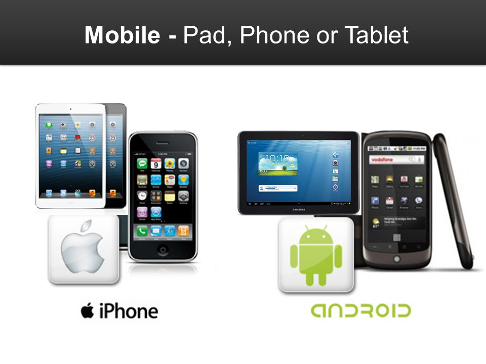 Mobile - Pad, Phone or Tablet