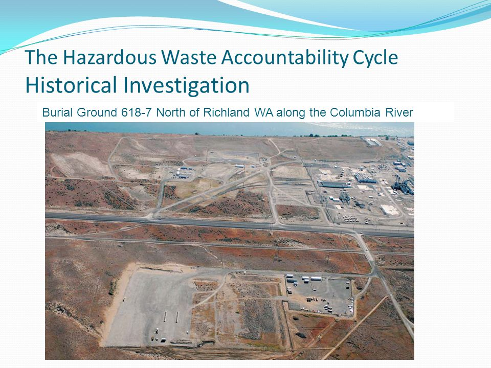 The Hazardous Waste Accountability Cycle Historical Investigation Burial Ground 618-7 North of Richland WA along the Columbia River