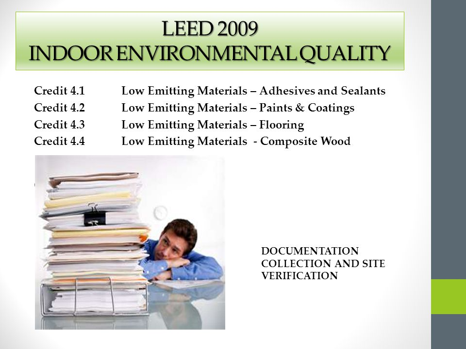 Credit Y?N INNOVATION & DESIGN PROCESS DESIGN / RESPONSIBILTYPRE-CON 6000 1 Credit 1.1 Innovation in Design-Exemplary Potable Water Use Reduction Supporting documentation may be required 1 Credit 1.2 Innovation in Design-Green Housekeeping 1 Credit 1.3 Innovation in Design-Green Landscape Maintenance 1 Credit 1.4 Innovation in Design 1 Credit 1.5 Innovation & Design 1 Credit 2 LEED Accredited Professional CreditY?N REGIONAL PRIORITY CREDITS DESIGN / RESPONSIBILTYPRE-CON 4 1 Credit 1.1 Regional Priority - Specific Supporting documentation may be required 1 Credit 1.2 Regional Priority - Specific 1 Credit 1.3 Regional Priority - Specific 1 Credit 1.4 Regional Priority - Specific LEED for New Construction and Major Renovation 2009 Project Scorecard