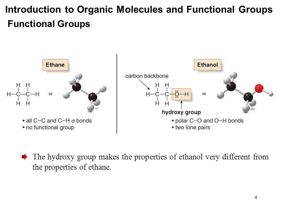 Introduction to Organic Molecules and Functional Groups Application—Vitamins Fat soluble vitamins : vitamin A, D, E, K Water soluble vitamins : vitamin B complex, C