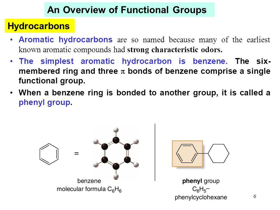 7 Alkanes have no functional groups and very unreactive.