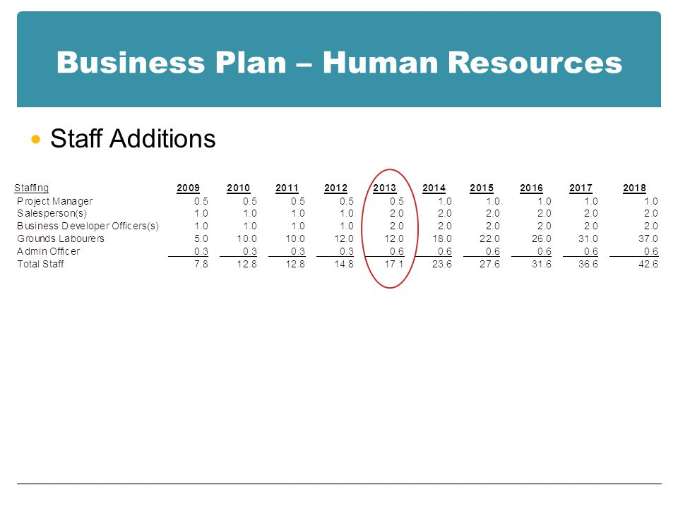 Business Plan – Human Resources Staff Additions