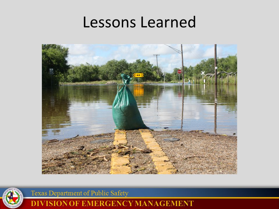 Texas Department of Public Safety Lessons Learned