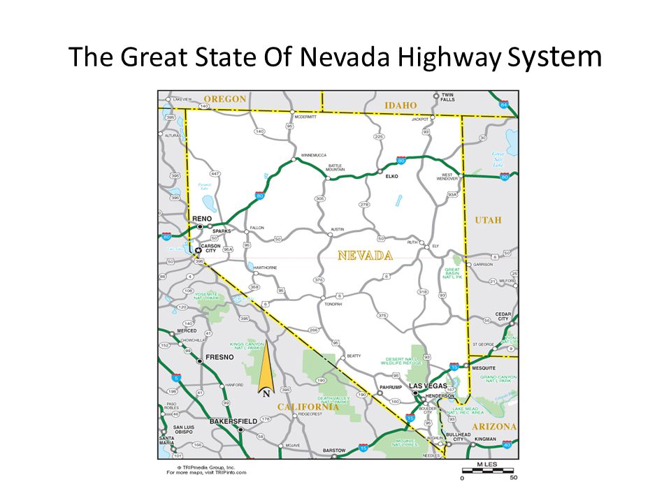 The Great State Of Nevada Highway S ystem