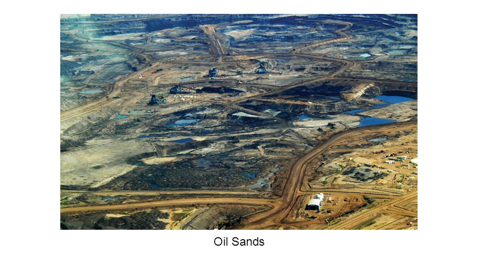 ●Uses an extreme process to separate bitumen from sands ●Waste water is largely recycled ●What can't be recycled anymore goes to tailings ponds, which is about 10% of the overall water used in the process ●Has disturbed some 715 square km of earth Oil Sands