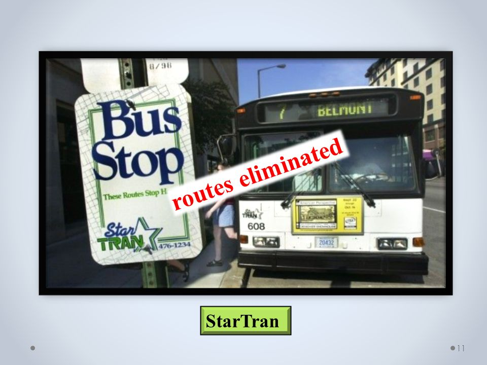 11 StarTran routes eliminated
