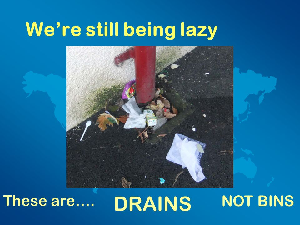 We're still being lazy These are…. DRAINS NOT BINS