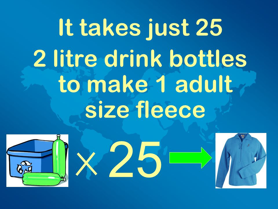 Recycling two glass bottles saves enough energy to boil water for five cups of tea.
