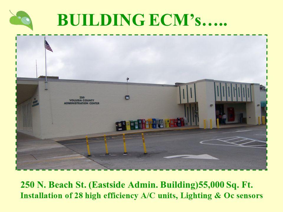 250 N. Beach St. (Eastside Admin. Building)55,000 Sq. Ft. Installation of 28 high efficiency A/C units, Lighting & Oc sensors BUILDING ECM's…..