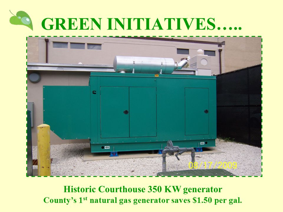 GREEN INITIATIVES…..