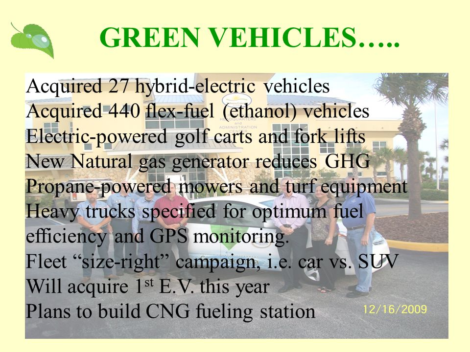 GREEN VEHICLES…..