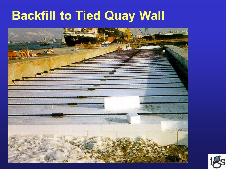 Backfill to Tied Quay Wall