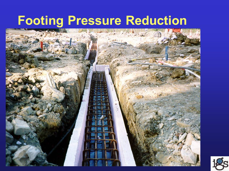 Footing Pressure Reduction