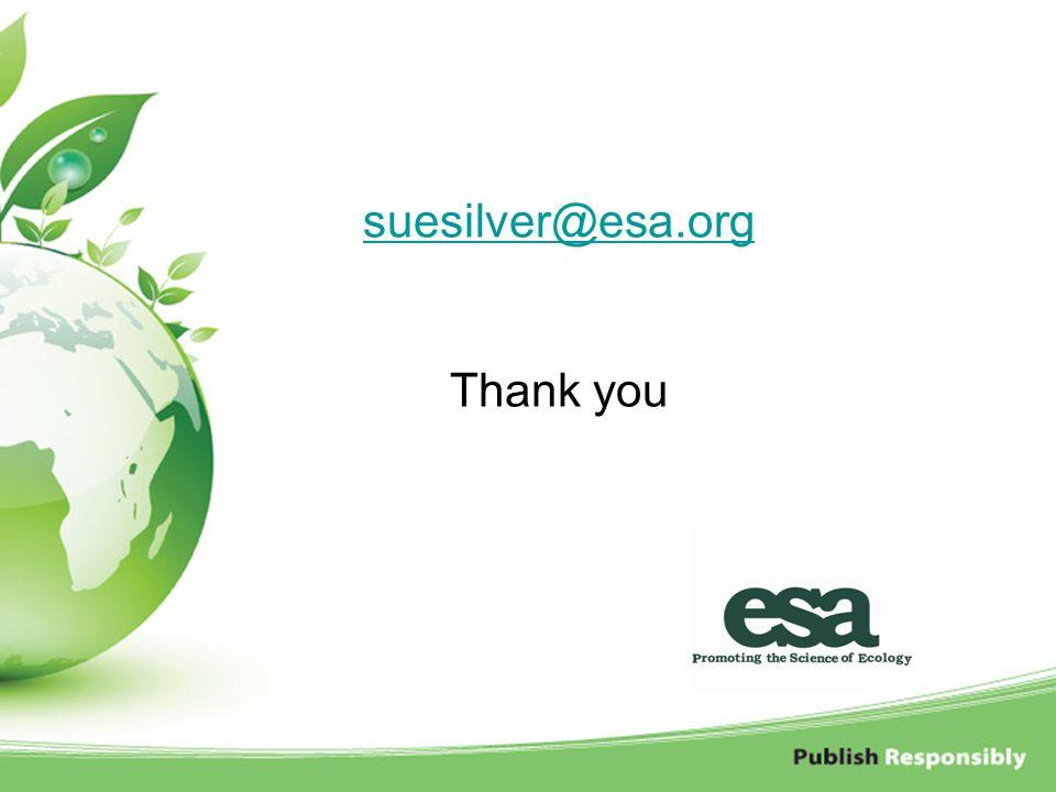 suesilver@esa.org suesilver@esa.org Thank you