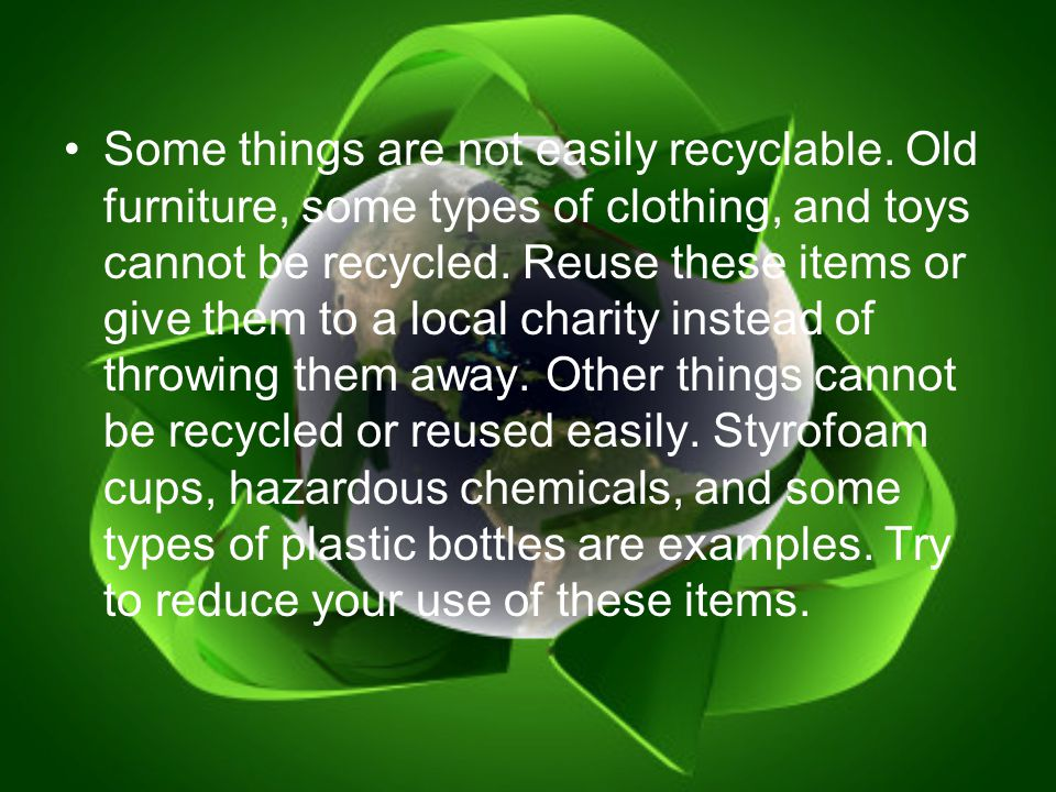 Landfill Rules 1.Reuse items if you can.
