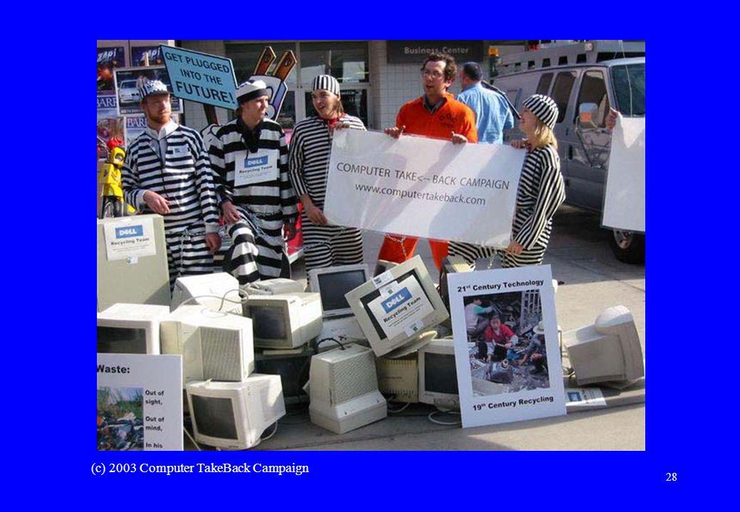 28 (c) 2003 Computer TakeBack Campaign