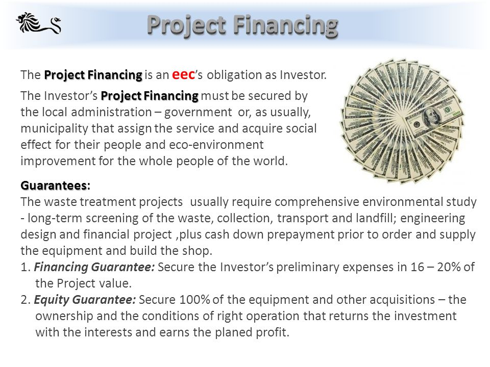 Project Financing Project Financing The Project Financing is an eec 's obligation as Investor.