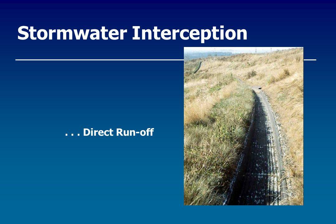 Stormwater Interception... Direct Run-off