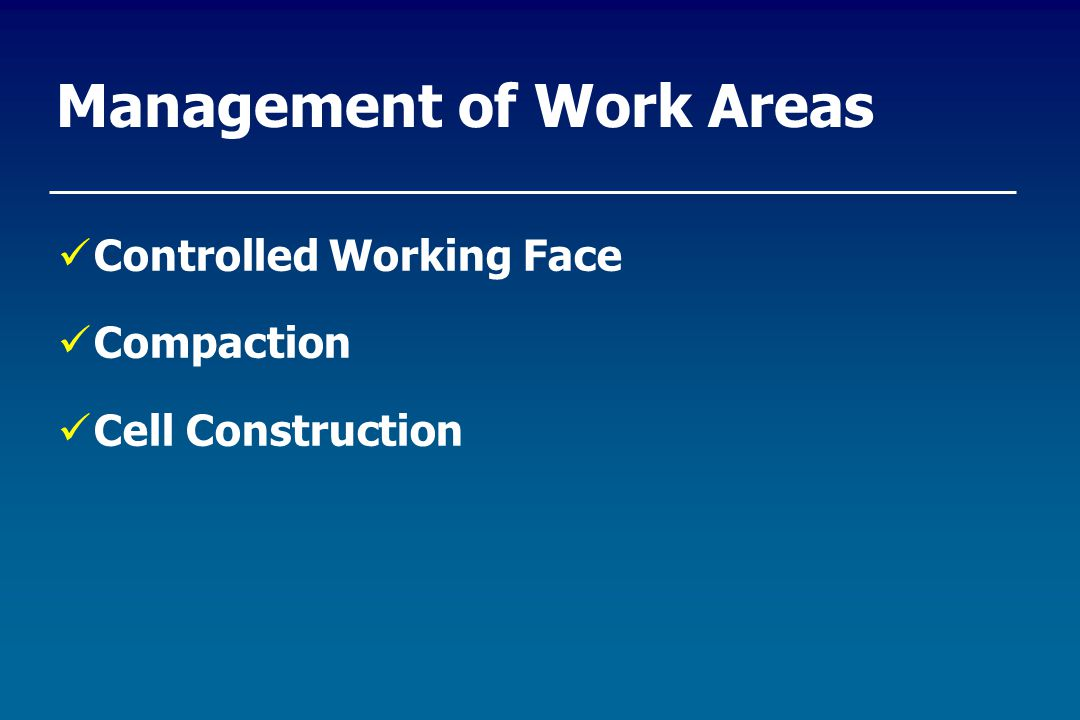 Management of Work Areas Controlled Working Face Compaction Cell Construction