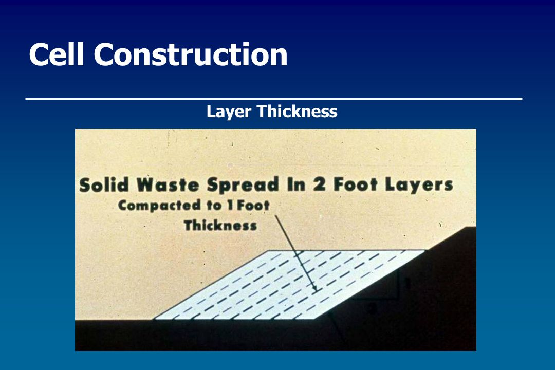Cell Construction Layer Thickness