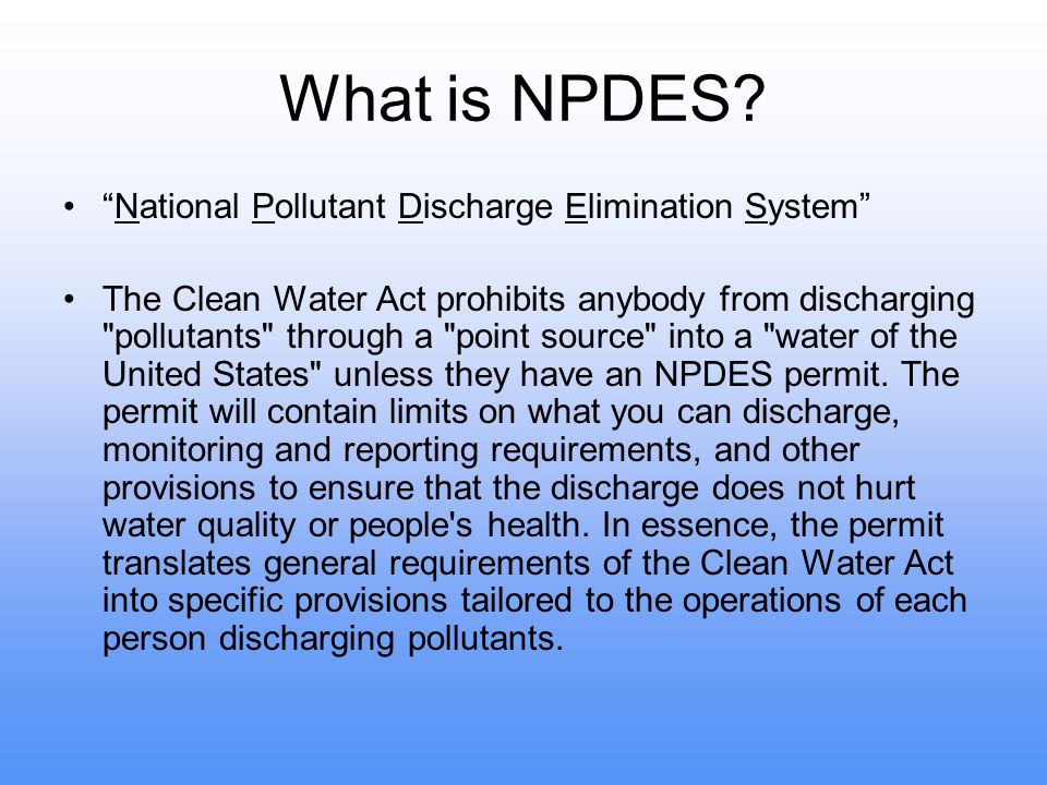 What is NPDES.