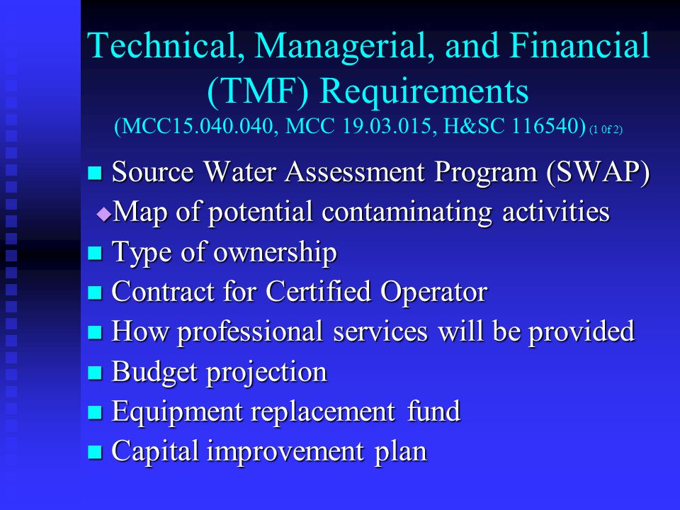 WASTEWATER TREATMENT AND DISPOSAL (1 0f 2) 14.