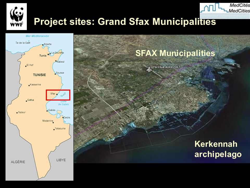 Previous experiences in the GS pilot area: «Programme d'Aménagement Côtier de la zone de SFAX » (PAC-Sfax) (1995-2000); «Analyse systémique et prospective.