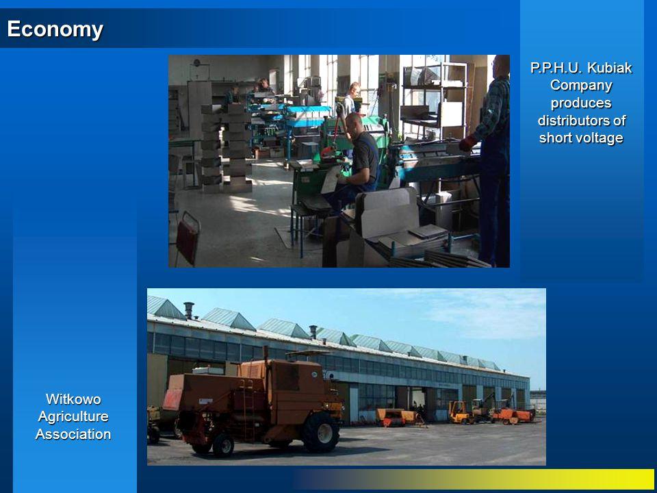 Economy Witkowo Agriculture Association P.P.H.U. Kubiak Company produces distributors of short voltage