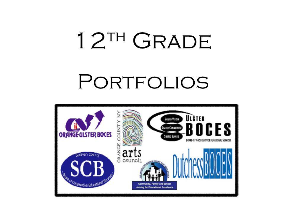12 th Grade Portfolios