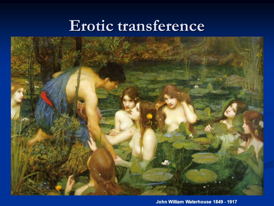 Erotic transference - in treatment Opdal LC: Erotization of the analytic situation.
