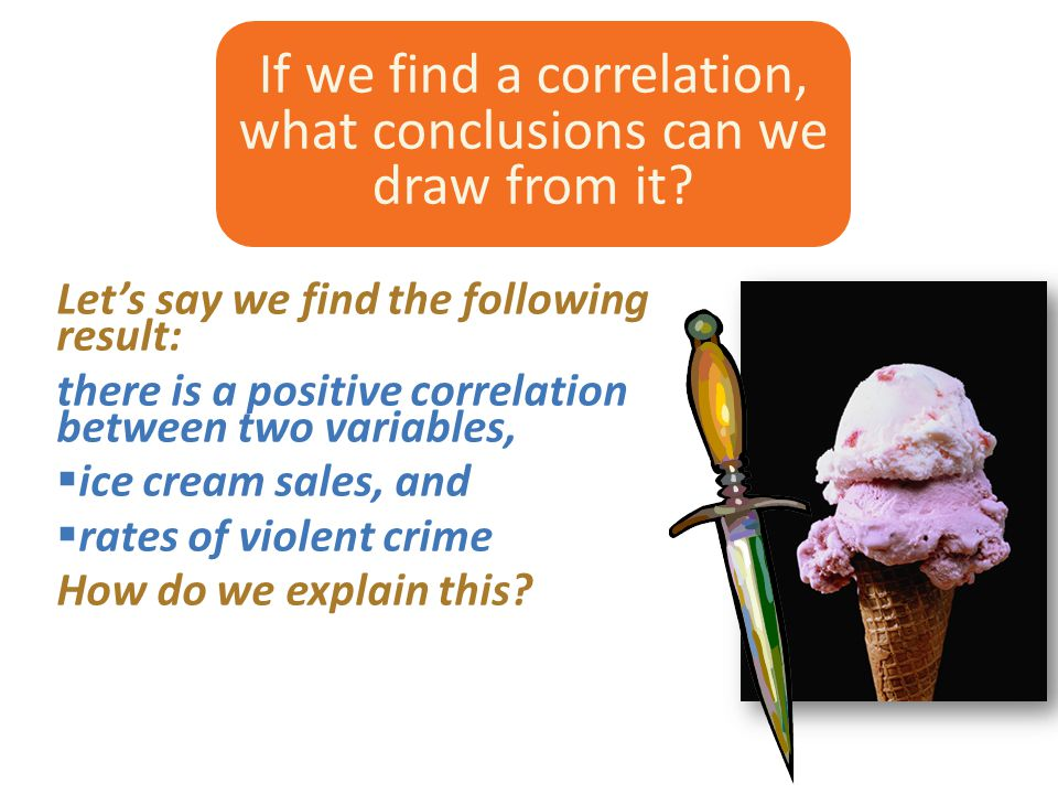 If we find a correlation, what conclusions can we draw from it.