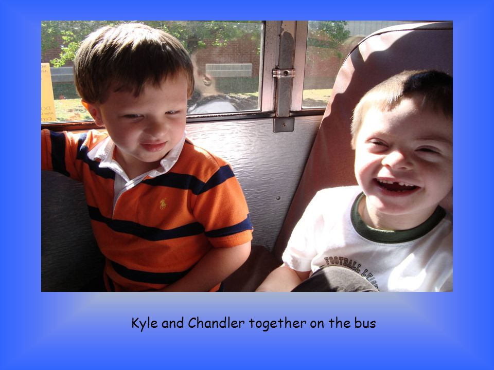 Kyle and Chandler together on the bus