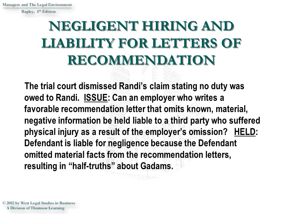 The trial court dismissed Randi's claim stating no duty was owed to Randi.
