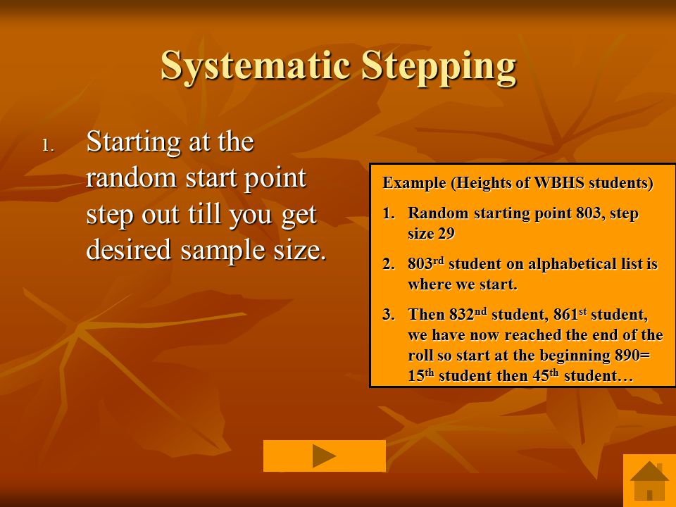 Systematic Stepping 1.