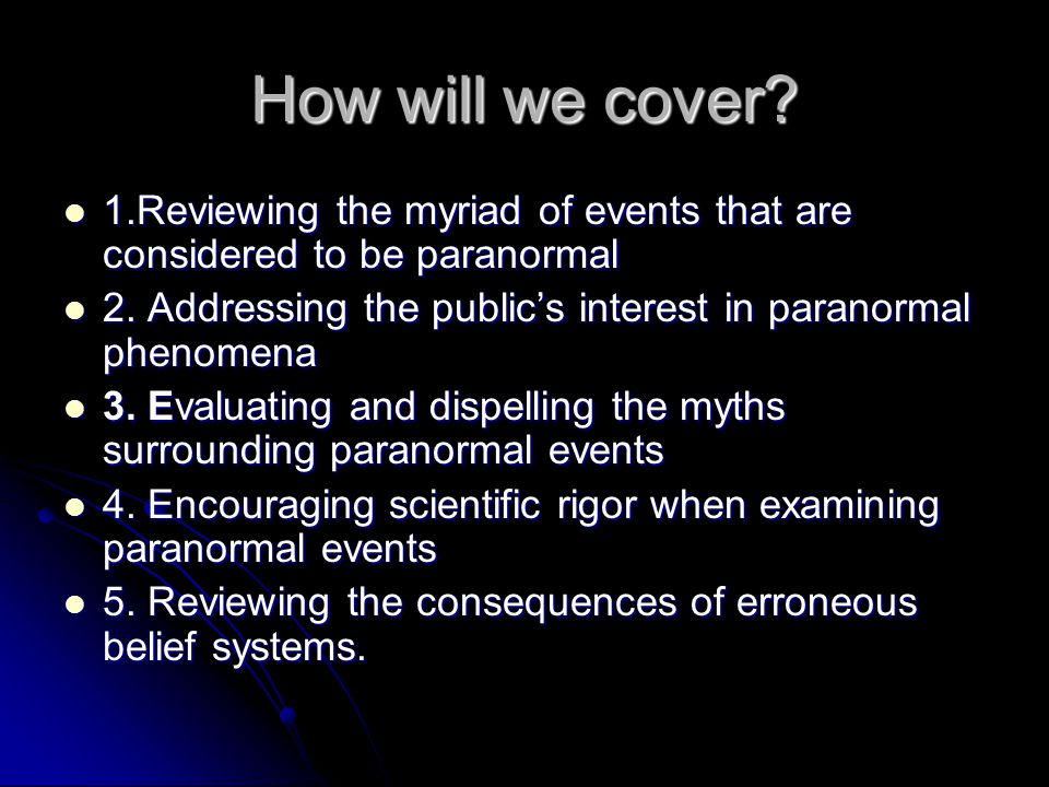 How will we cover.