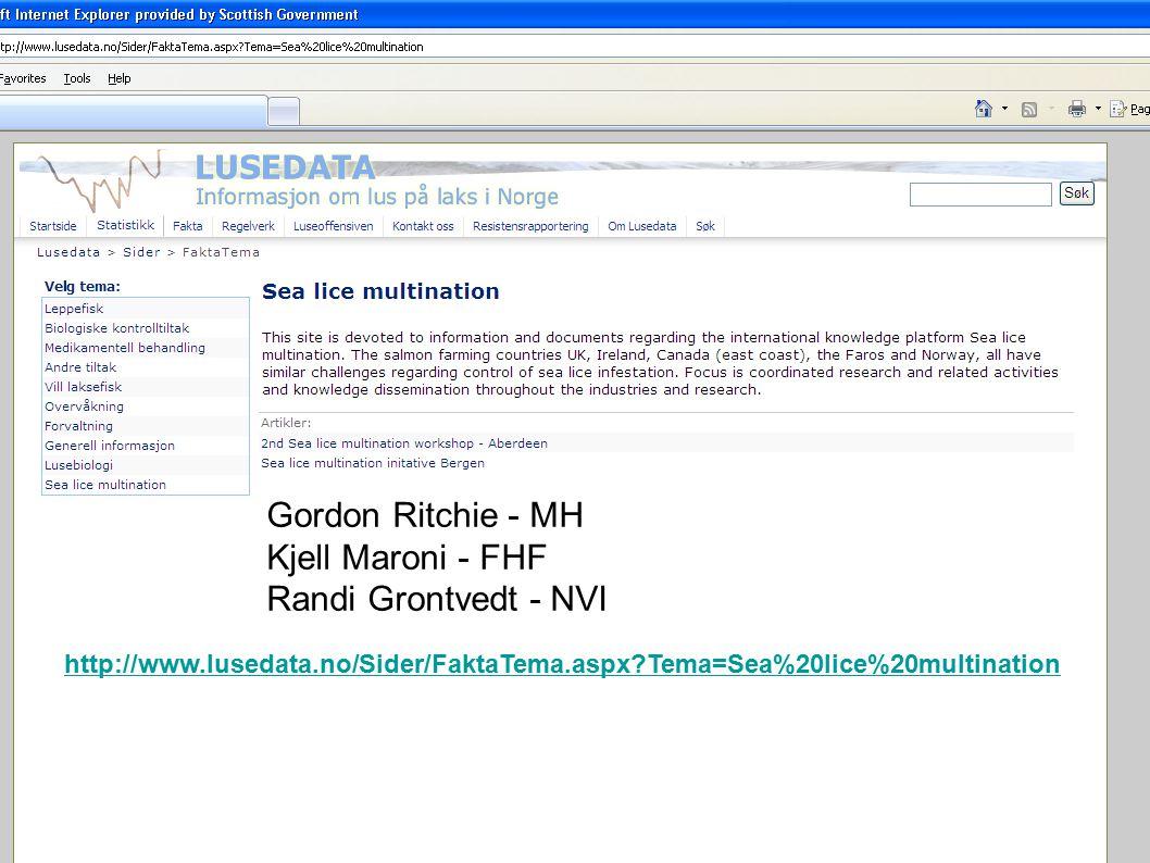 Sea Lice Multination Gordon Ritchie - MH Kjell Maroni - FHF Randi Grontvedt - NVI http://www.lusedata.no/Sider/FaktaTema.aspx?Tema=Sea%20lice%20multin