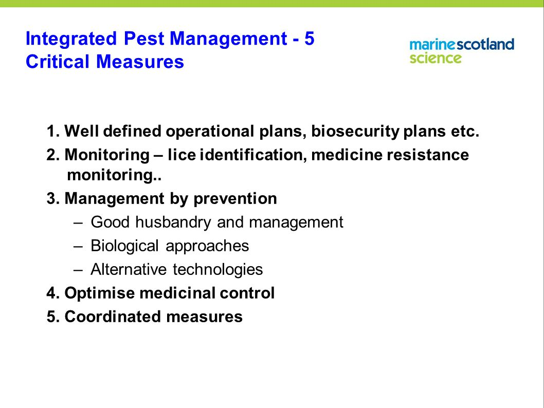 Integrated Pest Management - 5 Critical Measures 1.