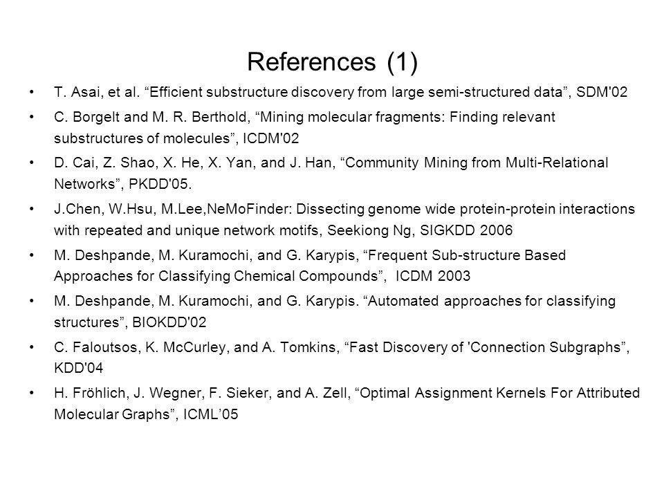 References (1) T. Asai, et al.
