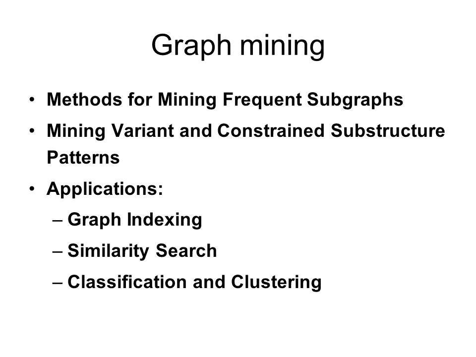 Why Graph Mining.