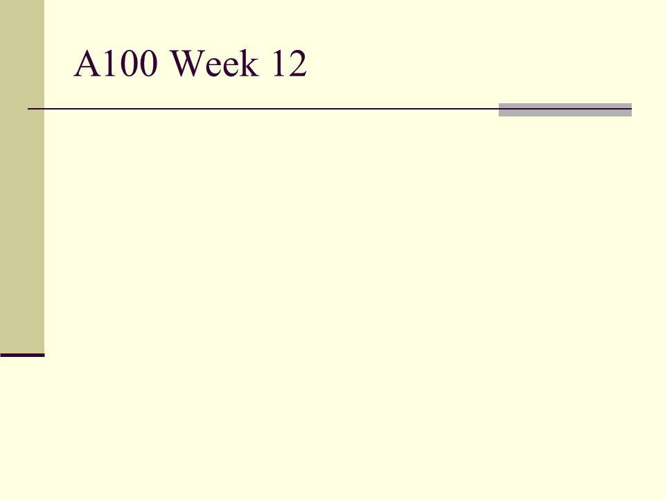 A100 Week 12