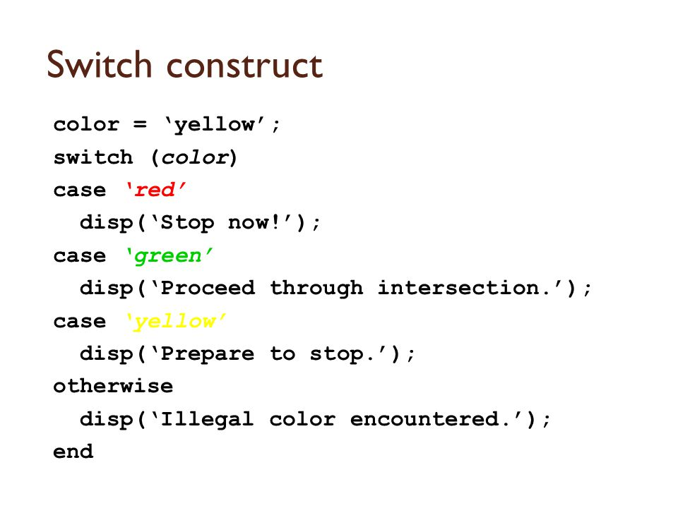 Logical Operators &, && - AND |, || - OR ~ - NOT
