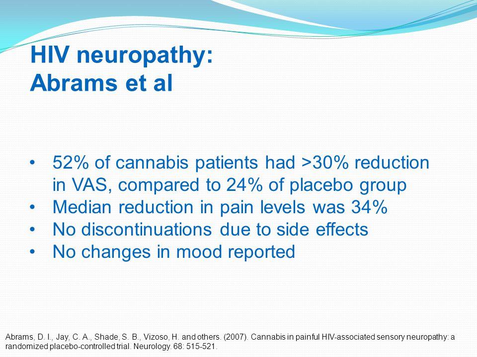 30 HIV neuropathy: Abrams et al Abrams, D. I., Jay, C.